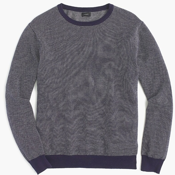 J. Crew Other - SOLD J Crew L Navy Blue Cotton Cashmere Sweater